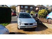 VW Silver Polo Twist. 1200cc. Full MOT. Low mileage. Alloy Wheels. CD/Radio. VGC for year.