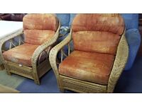 2 X Large Wicker Chair In Excellent Condition