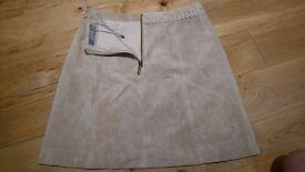 Suede Oasis Skirt - brand new, unworn, size 8