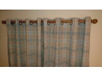 Balmoral duck egg curtains and cushion