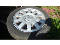 Renault Megane Alloy Wheels and Good Tyres 205 50 16 Set of Four + Centre Trims