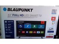 "BLUPUNKET 43"" LED SMART FULL HD TV BRAND NEW IN BOX."