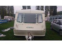 Touring Caravan elddis hurricane xl old type but nice condition