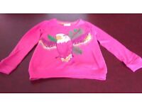 Pretty sequinned parrot top. Age 8-9. From Marks & Spencer.