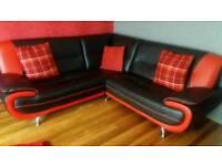 Corner leather sette sofa