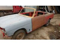Triumph Vitesse convertible 1969 unfinished project