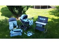 Childrens Toy Mamas and Papas pram and accessories