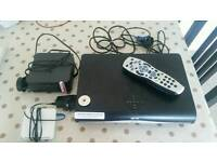 Sky+HD Box with rooter, wifi booster and remote control