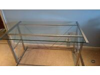Glass Desk, Book Shelves and Desk Chair for sale Great Condition