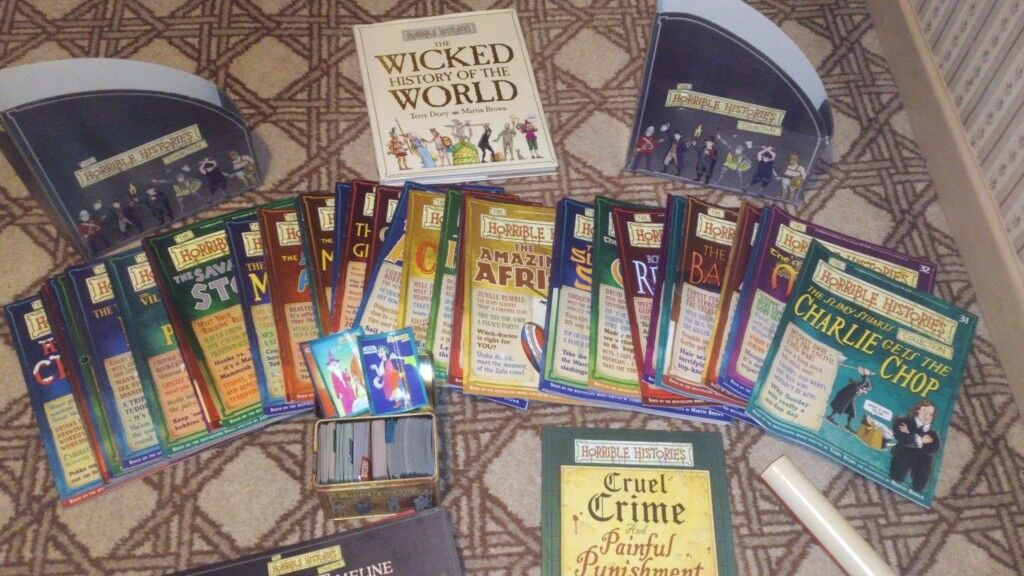 Horrible History Books and Accessories Collection