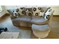 *PRICE DROP* Sofa and swivel chair + foot-stool