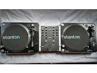 Stanton T.62 Direct-Drive DJ Decks With Gemini PS-424x Pro Mixer