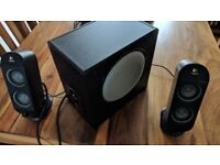 Logitech X-230 computer speakers and sub