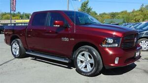 2016 Ram 1500 CREW SPORT 4X4 - ONLY 17,000 KMS !!!