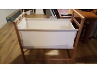 Mamas and papas crib (larger than a moses basket) good condition