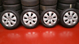 Audi Genuine 16 alloy wheels + 4 x tyres 205 55 16
