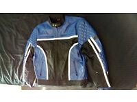 Mens Leather Motorcycle Jacket - UK Size 44
