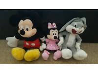 Mickey Mouse, Minnie Mouse, Bugs Bunny