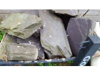 Large slate rockery stones for sale. Approx 27 stones in total. Collection only.