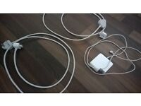 lightly used macbook charger with spare plug extension