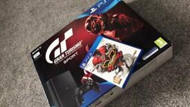 PLAYSTATION 4 SLIMLINE 8hours play still boxed with 2 games