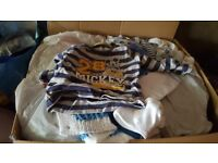 Box full of baby boys clothes 0-3months