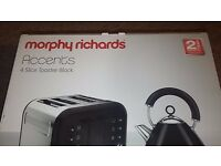 Brand New Morphy Richards Accents 4 Slice Toaster - Black