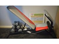 Multi position weights/sit up bench