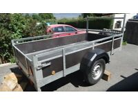 Alko Car Trailer 2.5m x 1.3m - 8x4+ Excellent Condition with spare wheel