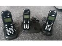 Panasonic Cordless Telephone x3 with Answer Machine