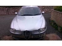 2004 ALFA ROMEO 147 TWIN SPARK SILVER 87000m FOR SPARES / REPAIR