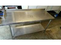 Commercial stainless steel kitchen perperation table