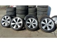 SET OF NISSAN/TOYOTA/HONDA/INFINITY ANY 5 x 114.3 ALLOYS WITH GOOD BRANDED 295 35 21 TYRES EX COND
