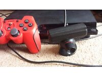 Sony Playstation 3 with 1 controller and PS-Eye camera