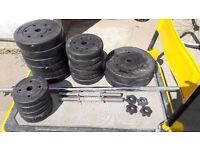**WEIGHT PLATES**TOTAL 65KG**DUMBELL**BARBELL**OLYMPIC BAR**BARGAIN**GYM EQUIPMENT**