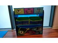 Monsters Inc Kids Storage Unit Display Organiser Great Condition