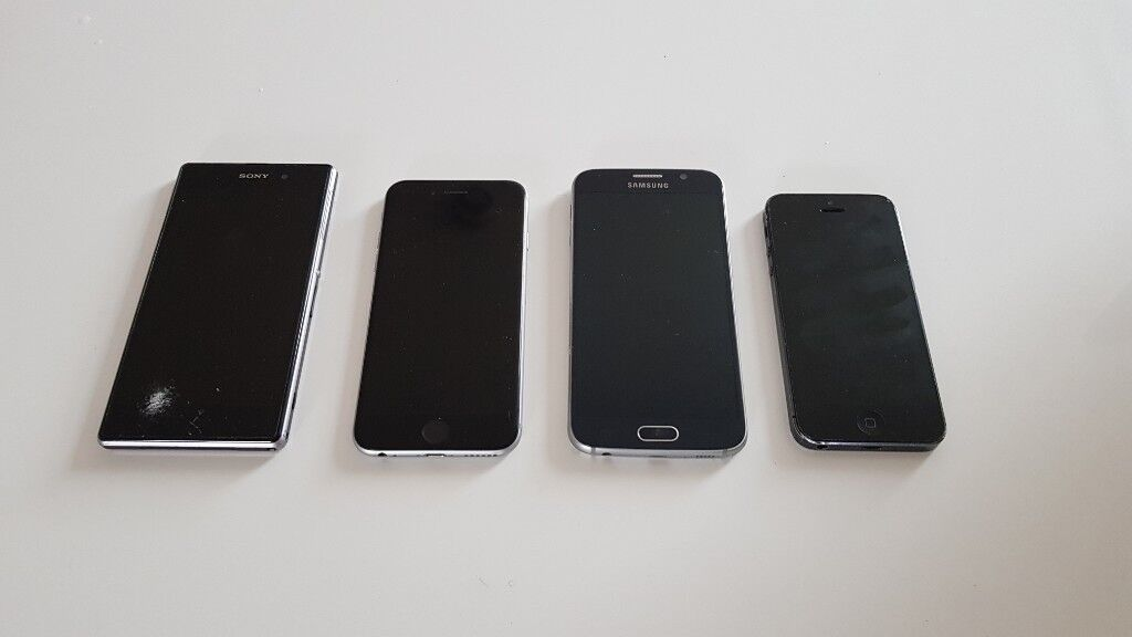 iPhone 6S, Samsung Galaxy S6, iPhone 5, Sony Xperia Z1
