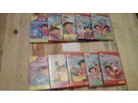 Dora dvd collection set of 10 dvds £6.00