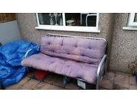 Blue Bonnie Double Sofa Bed/Futon
