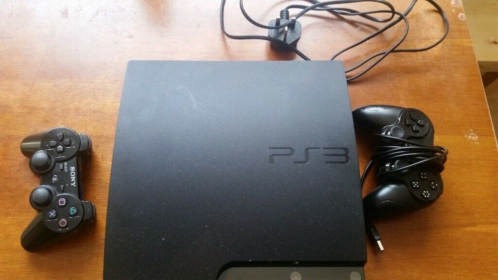 PS3 slim 120gb + 2 controllers + Marv v capcom 2 + ssf2 hd remix + Tekken 5  Dr + no no kuni | in Canton, Cardiff | Gumtree