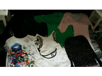 womens clothes bundle size 8-10 asos river island tops dress cardigan