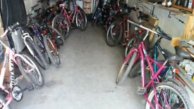 ladies and gents mountain bikes ( over 40 to choose from)