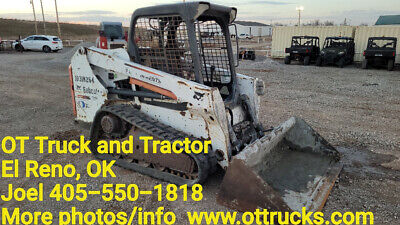 2014 Bobcat T550 Open Cab Rubber Track Skidsteer Loader Used