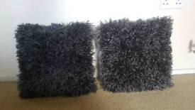 Next grey glimmer cushion pair
