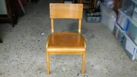 Vintage retro school chair