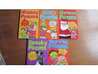 SET OF 5 CHILDREN'S BOOKS FUNNY POEMS