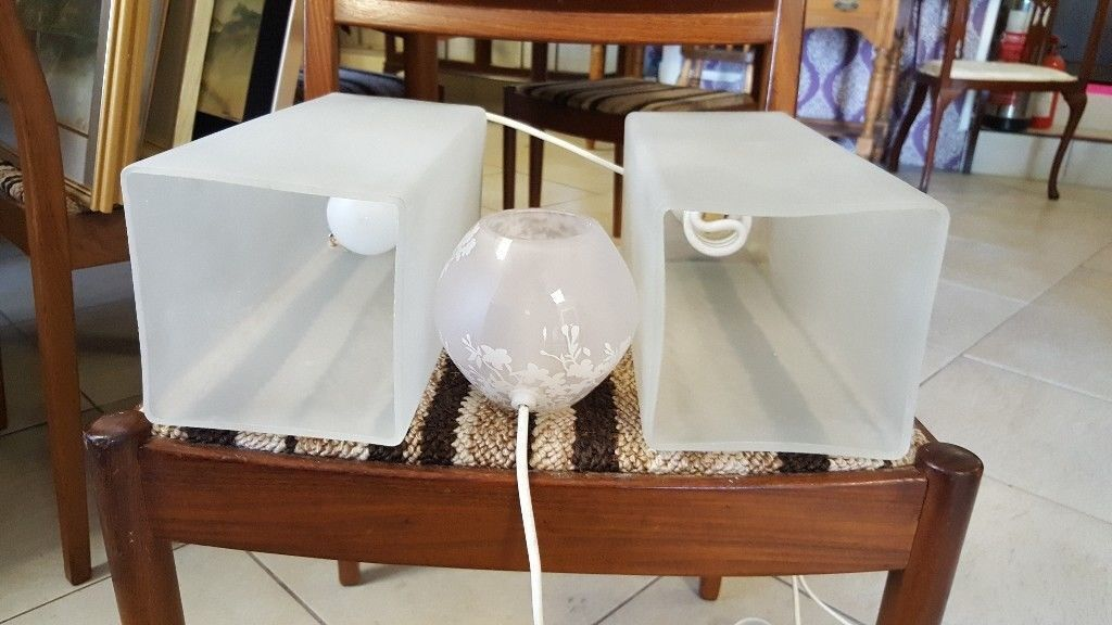 Pair Ikea Frosted Glass Table Lamps Small Lamp In Bearsden Glasgow Gumtree