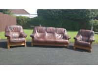 3 Seater Sofa & 2 Arm Chairs for sale £150 ono (Can be delivered locally for £20)