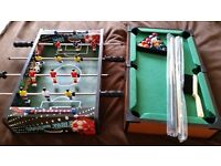 Table top Pool and Table top Football games