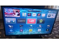 "SAMSUNG 40"" LED TV SMART/WIFI READY/MEDIA PLAYER/100HZ/FREEVIEW HD/ AS NEW NO OFFERS"